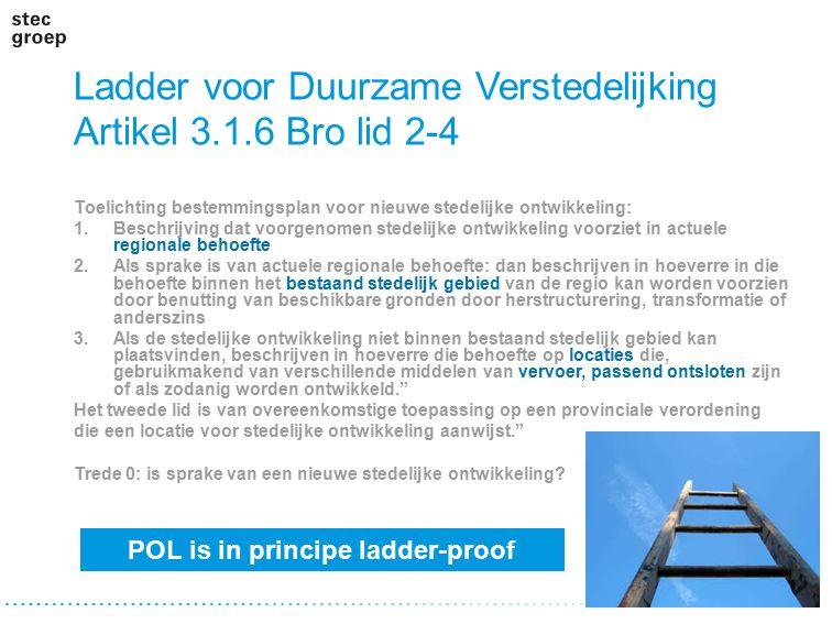 Ladder voor Duurzame Verstedelijking Artikel 3.1.6 Bro lid 2-4 Toelichting bestemmingsplan voor nieuwe stedelijke ontwikkeling: 1.Beschrijving dat voo