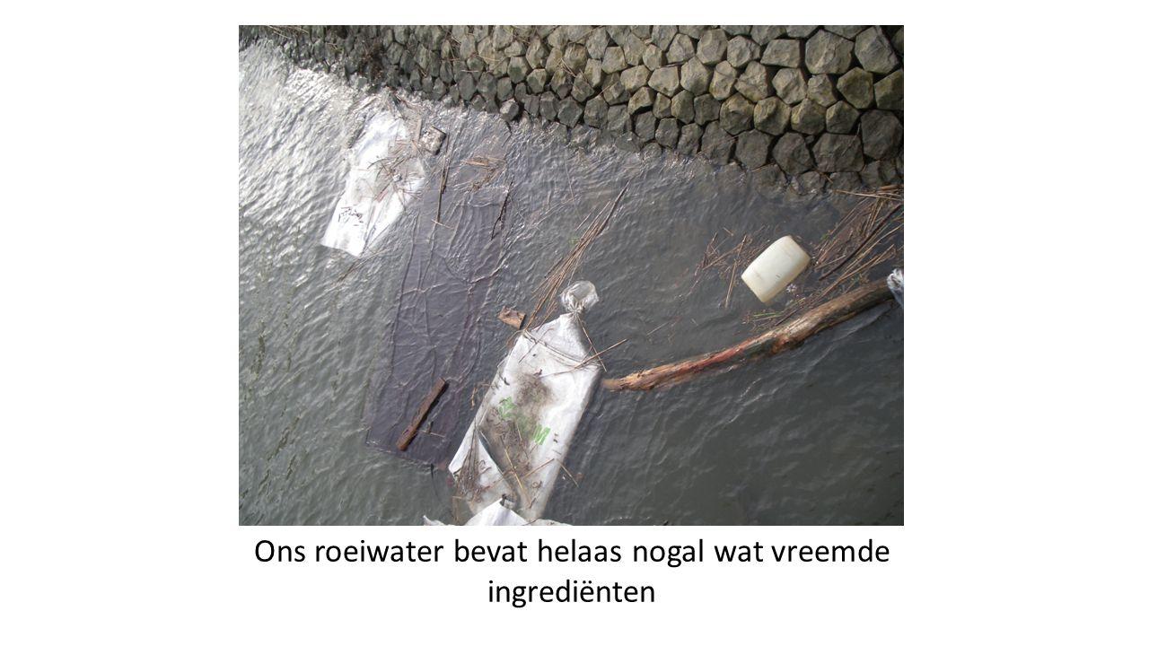 Ons roeiwater bevat helaas nogal wat vreemde ingrediënten