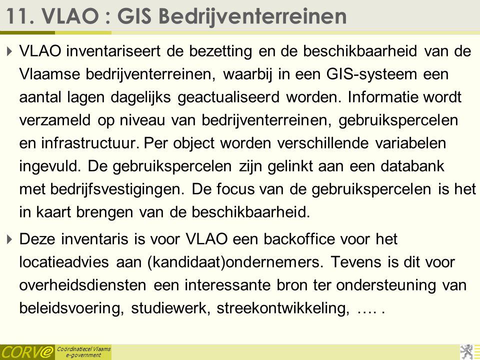 Coördinatiecel Vlaams e-government 10. VAPH : Rechten FOD SZ  Het VAPH wil met dit project bereiken dat de persoon met een handicap gegevens, die hij