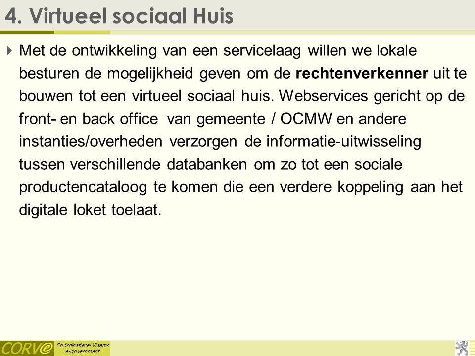 Coördinatiecel Vlaams e-government 3. Persoonlijk Assistentiebudget  Het Vlaams Agentschap voor Personen met een Handicap wil met dit project bereike