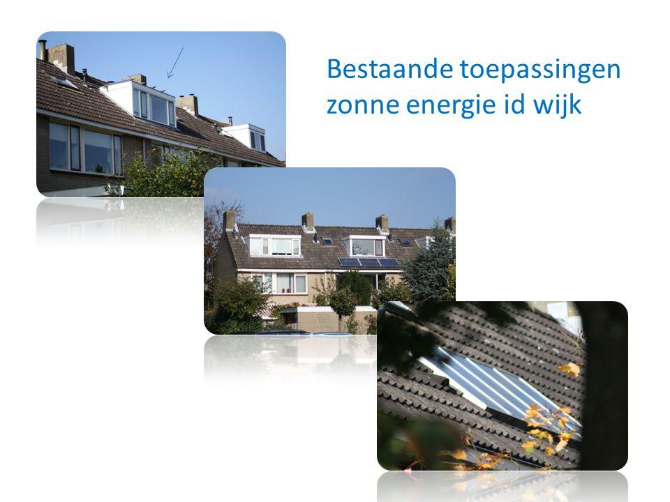Bestaande toepassingen zonne energie id wijk