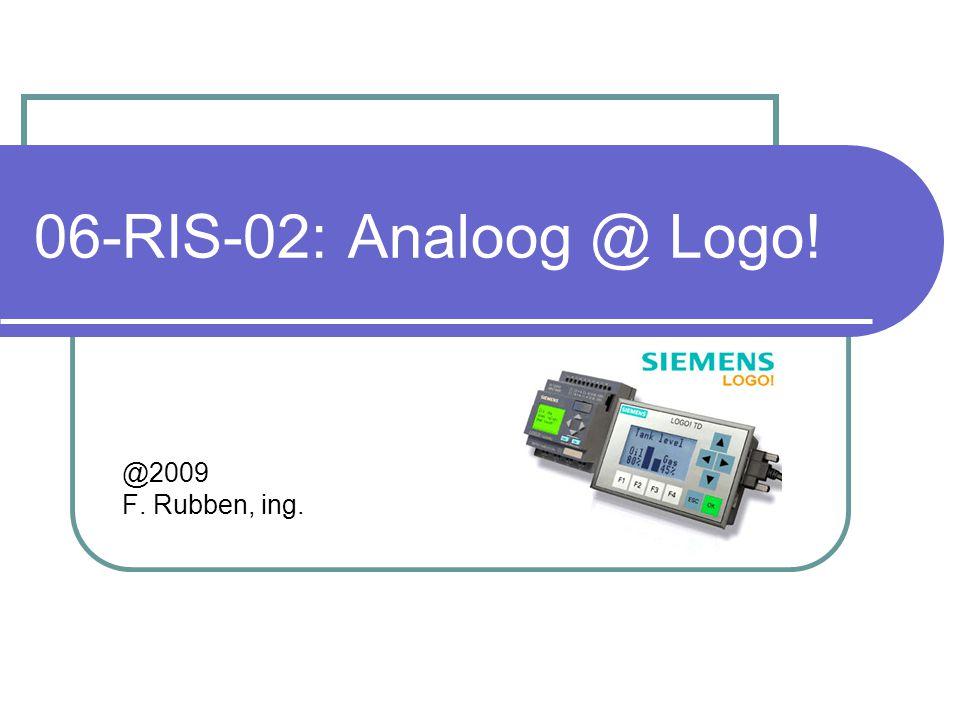 Analoge verwerking2 Oefening 01: analoog @Logo.In de 0BA6 zijn er 2 analoge ingangen aanwezig.