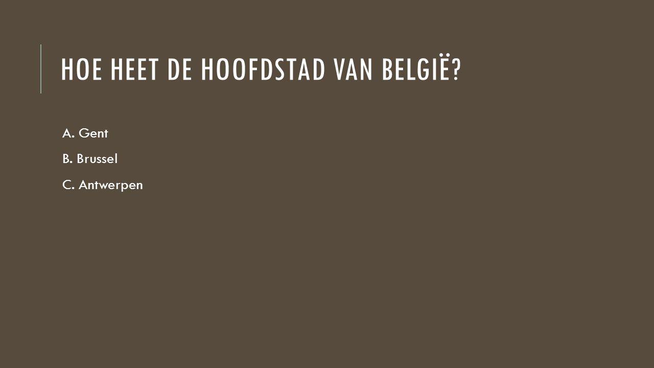 HOE HEET DE HOOFDSTAD VAN BELGIË? A. Gent B. Brussel C. Antwerpen