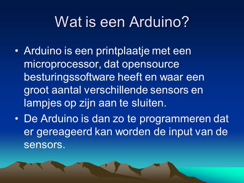 Wat is een Arduino.