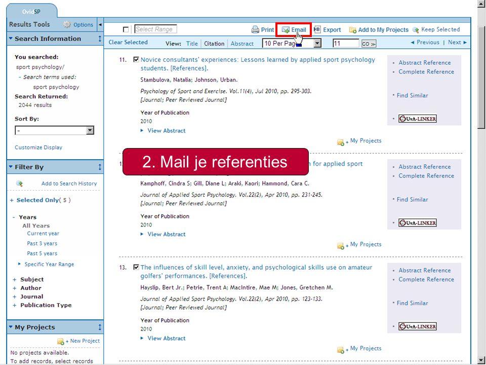 7 naam@student.uva.nl Bepaal de uitgebreidheid van de referenties Selecteer een citatiestijl