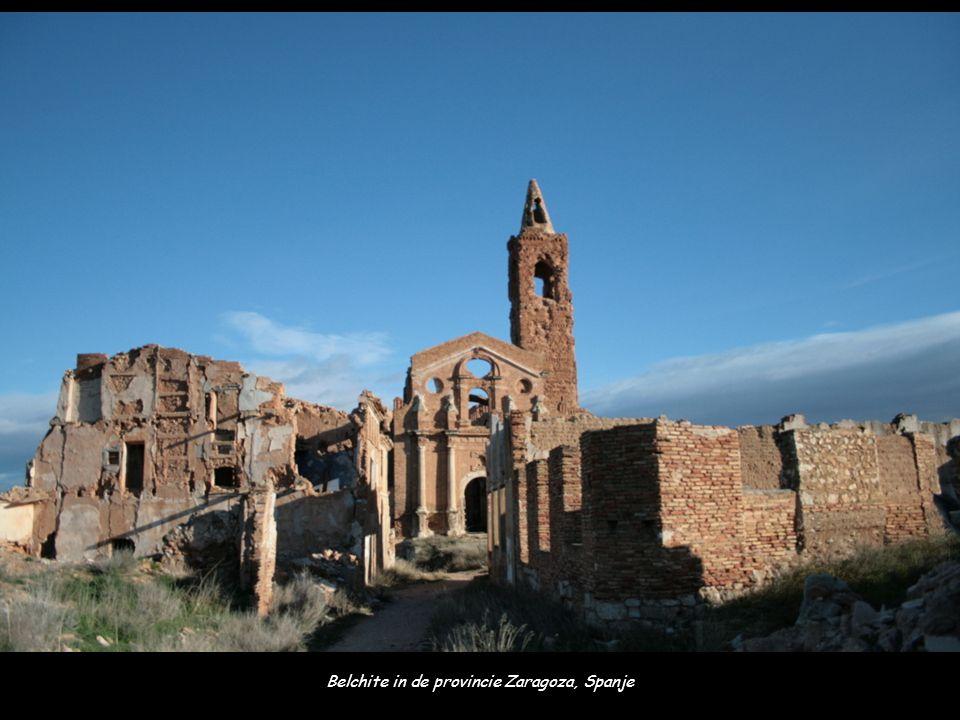 Belchite in de provincie Zaragoza, Spanje