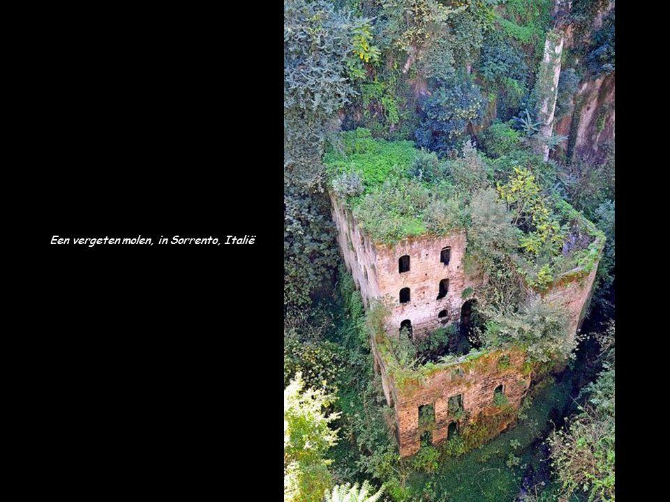 Een vergeten molen, in Sorrento, Italië