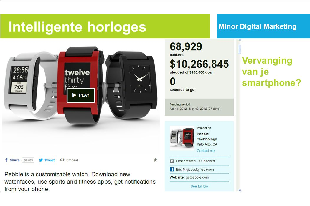 Intelligente horloges Vervanging van je smartphone? Minor Digital Marketing