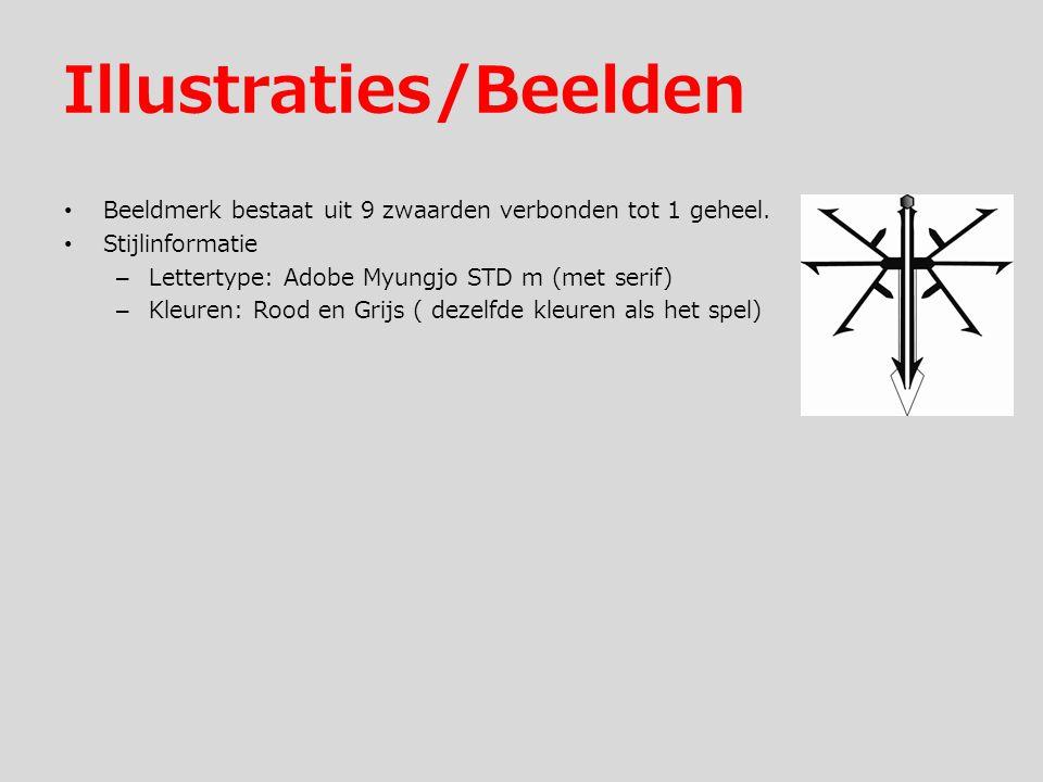 Illustraties/Beelden Beeldmerk bestaat uit 9 zwaarden verbonden tot 1 geheel.