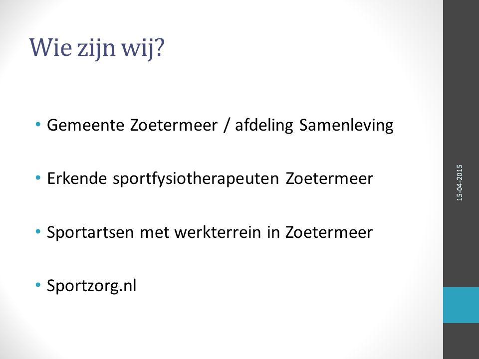 Praktijk voorbeeld Sporten en bewegen leveren een positieve bijdrage aan de volksgezondheid De Nederlandse inwoner is hiervan bewust Recessie doet in 2012 zijn intrede Hardlopen wordt populairder 15-04-2015