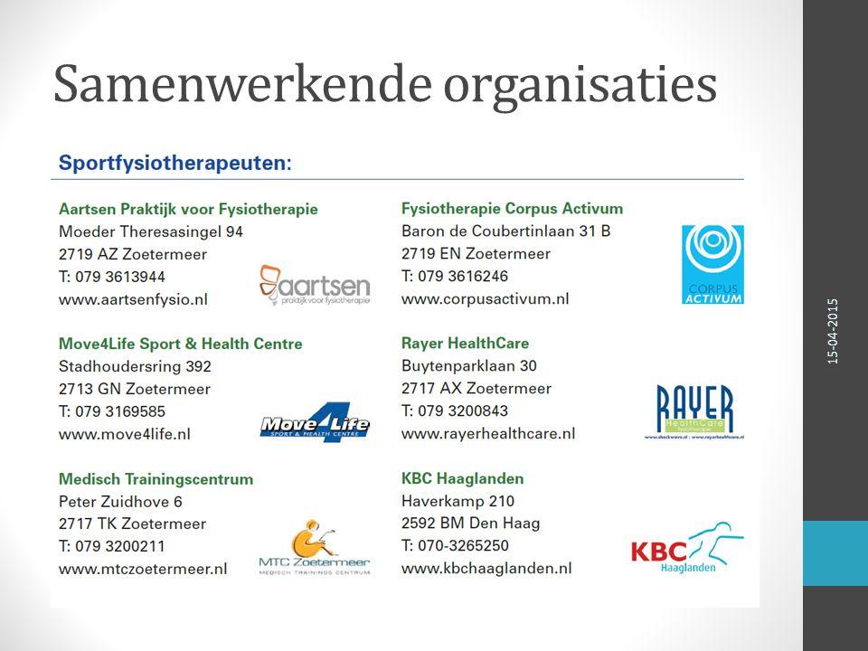Samenwerkende organisaties 15-04-2015