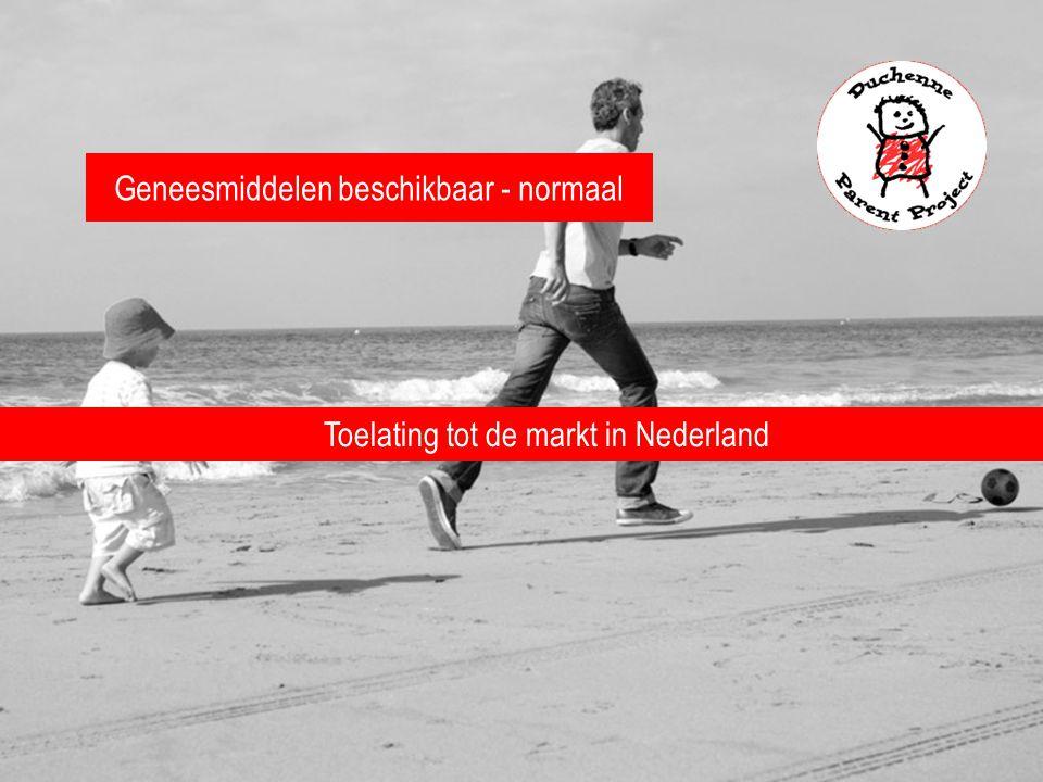 Geneesmiddelen beschikbaar - normaal Toelating tot de markt in Nederland