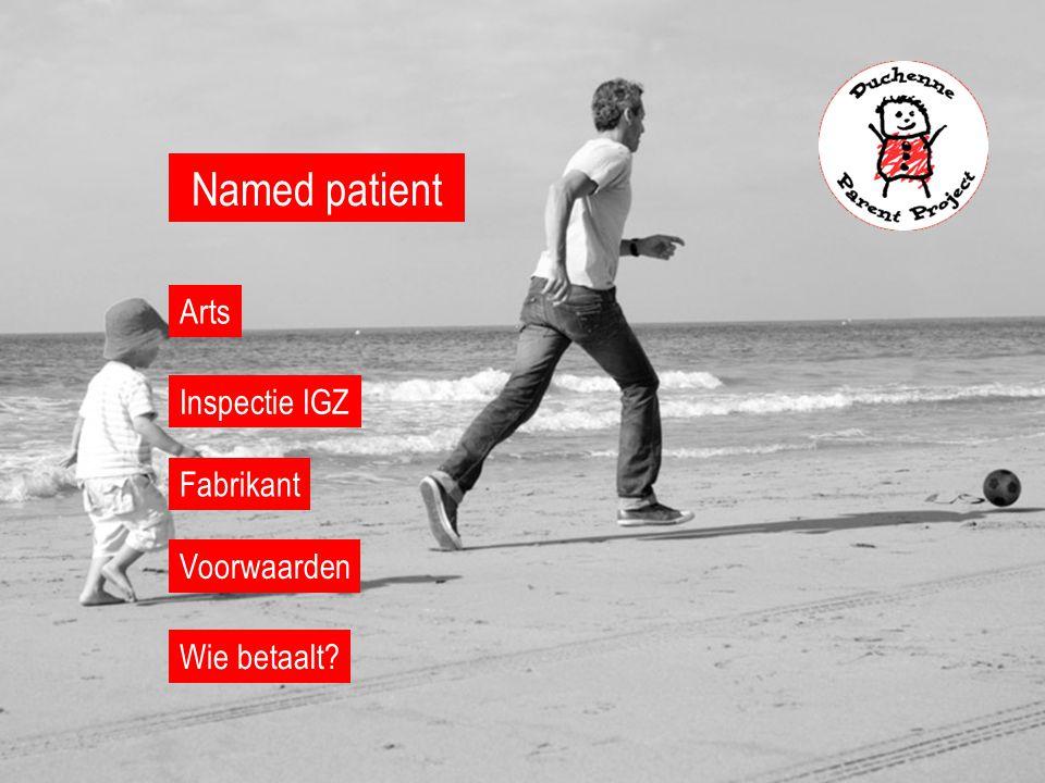 Named patient Wie betaalt? Inspectie IGZ Arts Fabrikant Voorwaarden