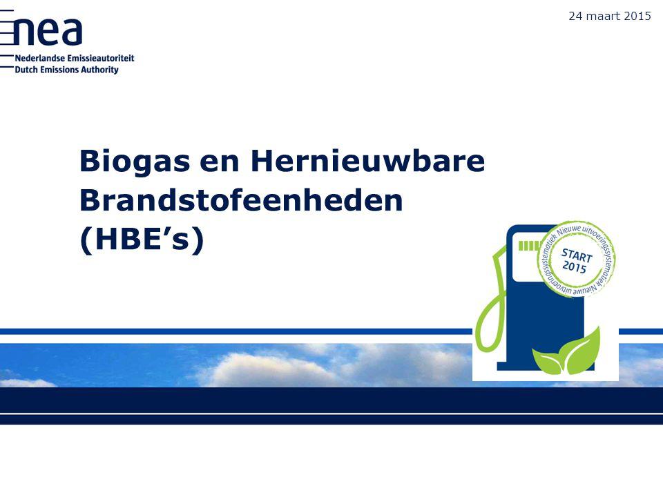 Biogas en Hernieuwbare Brandstofeenheden (HBE's)