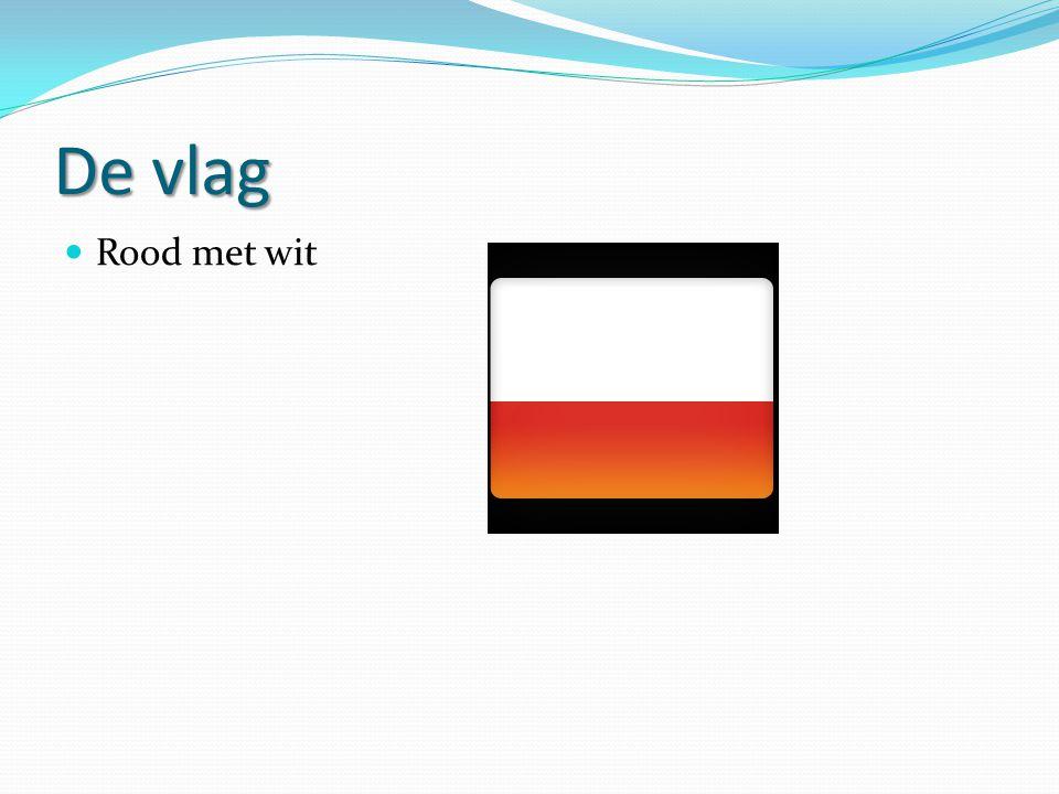 De vlag Rood met wit