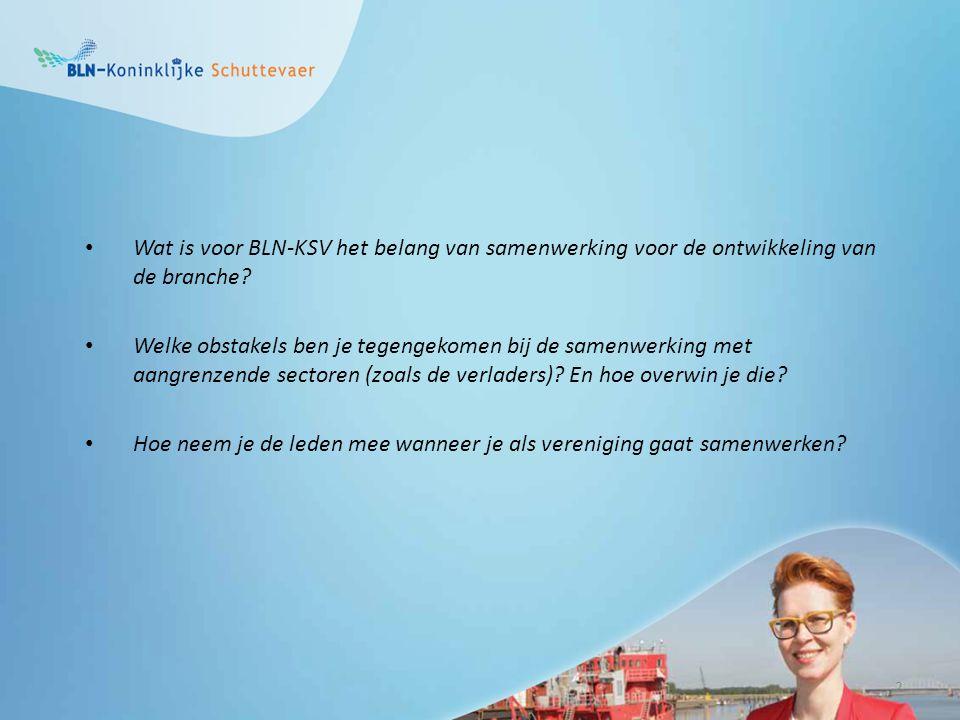 Wat is voor BLN-KSV het belang van samenwerking voor de ontwikkeling van de branche.