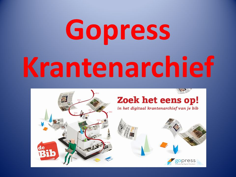 Gopress Krantenarchief
