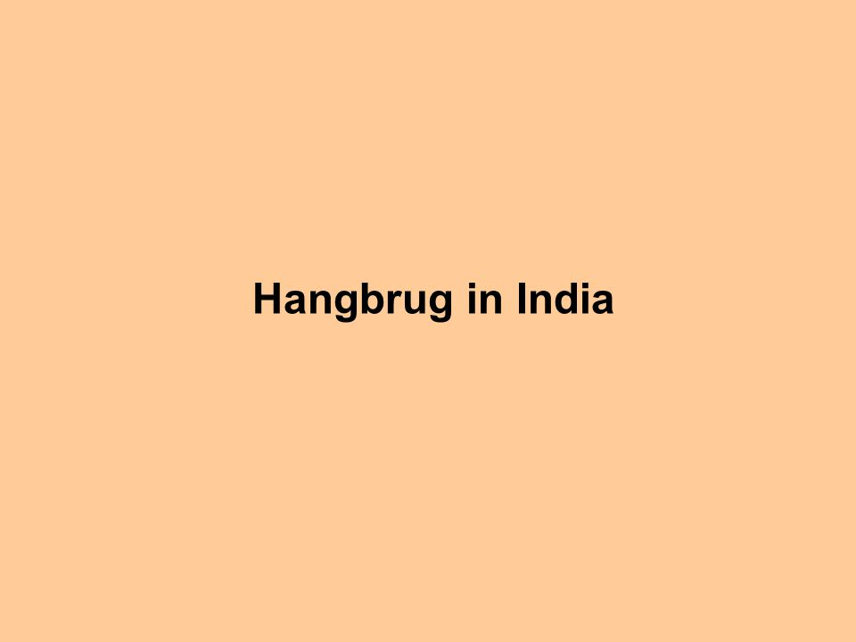 Hangbrug in India
