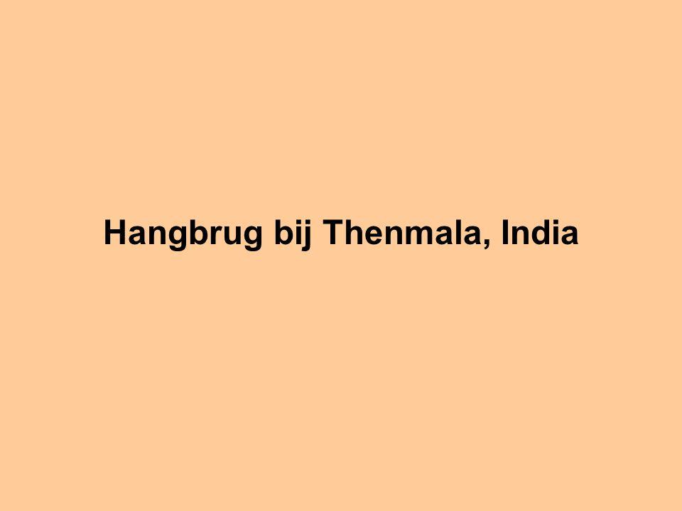 Hangbrug bij Thenmala, India