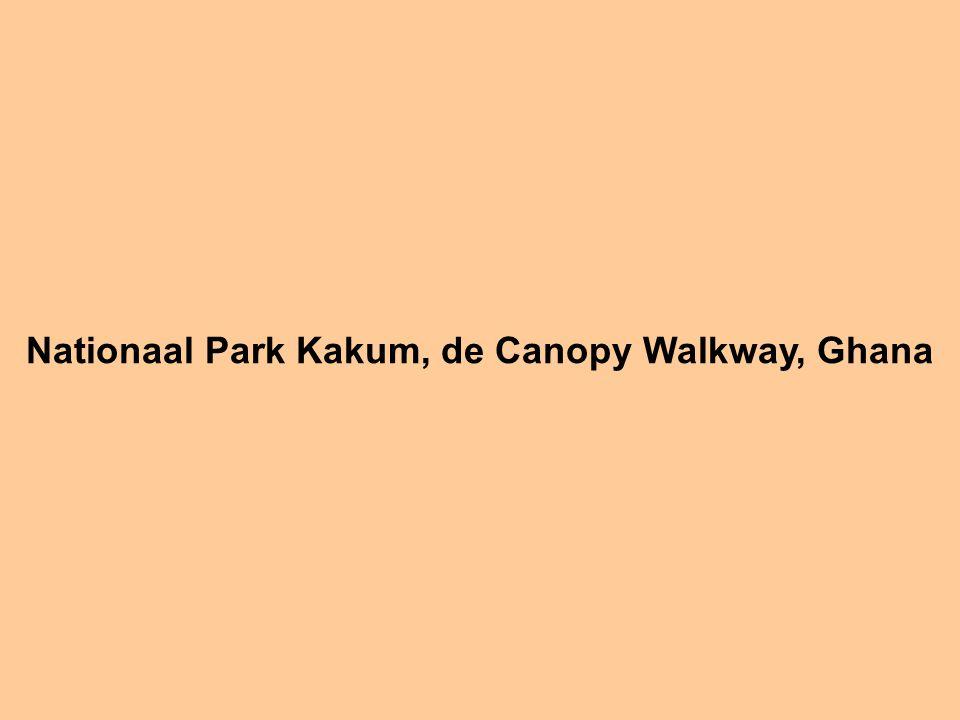 Nationaal Park Kakum, de Canopy Walkway, Ghana