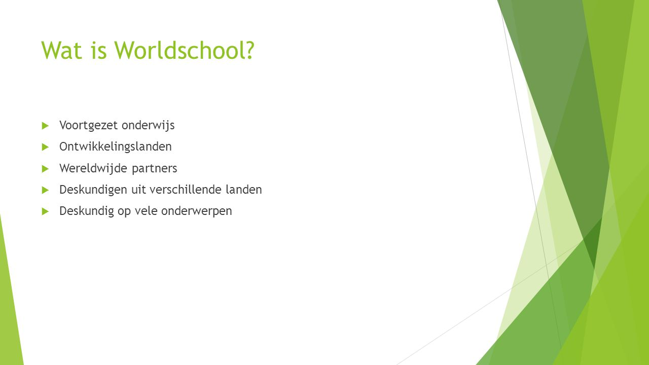 Wat is Worldschool.