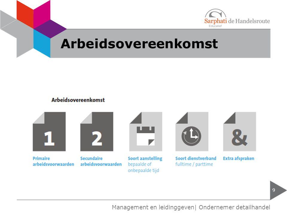 Arbeidsovereenkomst 9 Management en leidinggeven| Ondernemer detailhandel