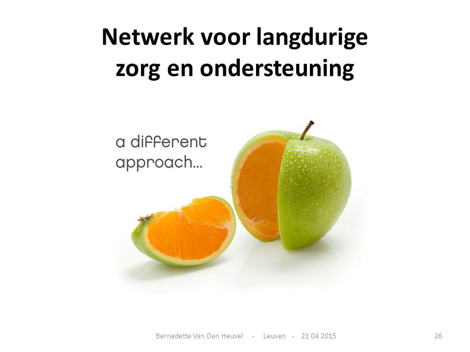 Netwerk voor langdurige zorg en ondersteuning Bernadette Van Den Heuvel - Leuven - 21 04 201526
