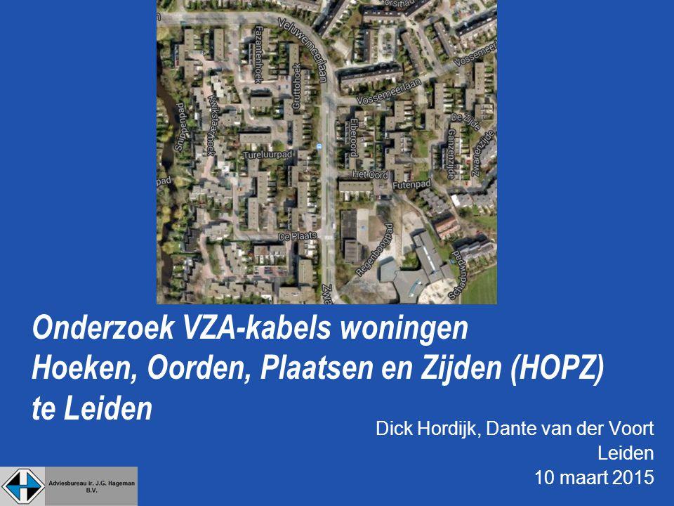 Dick Hordijk, Dante van der Voort Leiden 10 maart 2015 Onderzoek VZA-kabels woningen Hoeken, Oorden, Plaatsen en Zijden (HOPZ) te Leiden