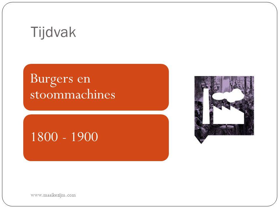 Tijdvak www.maaikezijm.com Burgers en stoommachines 1800 - 1900