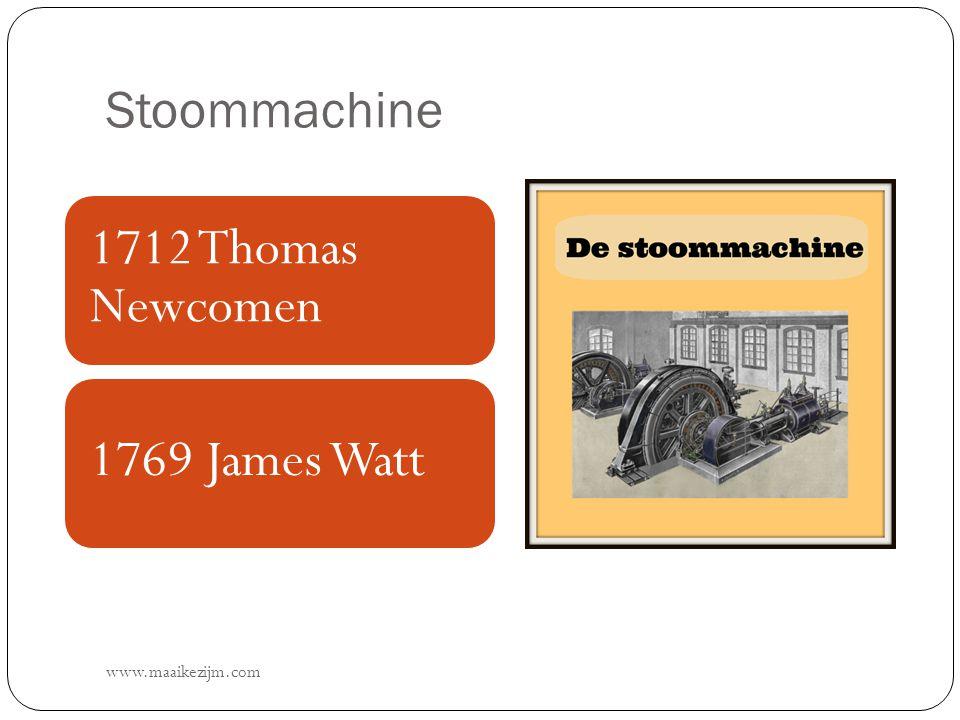 Stoommachine www.maaikezijm.com 1712 Thomas Newcomen 1769 James Watt