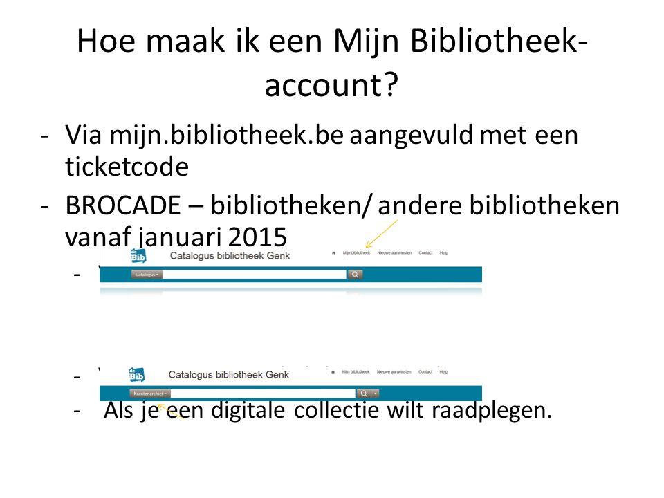 Mijn Bibliotheek: registratie