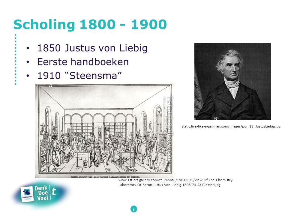 "Scholing 1800 - 1900 1850 Justus von Liebig Eerste handboeken 1910 ""Steensma"" www.1st-art-gallery.com/thumbnail/190138/1/View-Of-The-Chemistry- Labora"