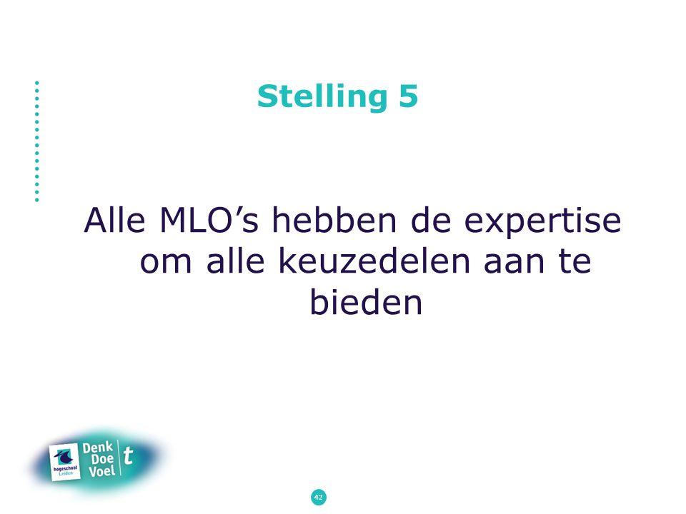 Stelling 5 Alle MLO's hebben de expertise om alle keuzedelen aan te bieden 42