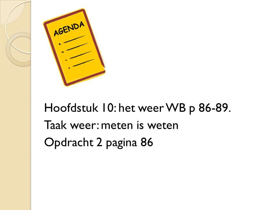 Taak weer: meten is weten 1.De weer- elementen en de meet- instrumenten.