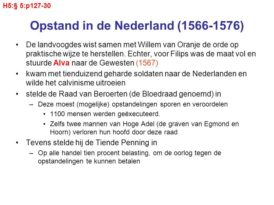 Opstand in de Nederland (1566-1576) De landvoogdes wist samen met Willem van Oranje de orde op praktische wijze te herstellen. Echter, voor Filips was