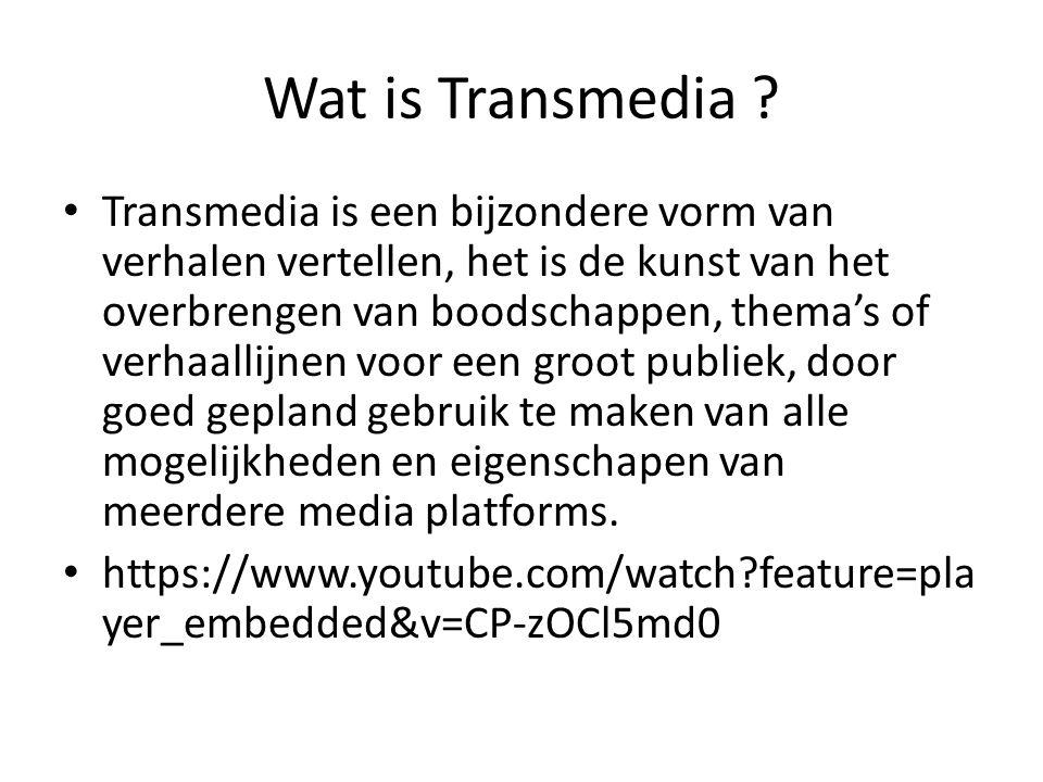 Wat is Transmedia .