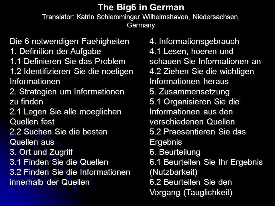 Le sei grandi fasi (Big6) 1.