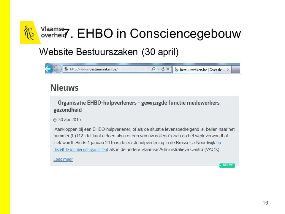 7. EHBO in Consciencegebouw 16 Website Bestuurszaken (30 april)
