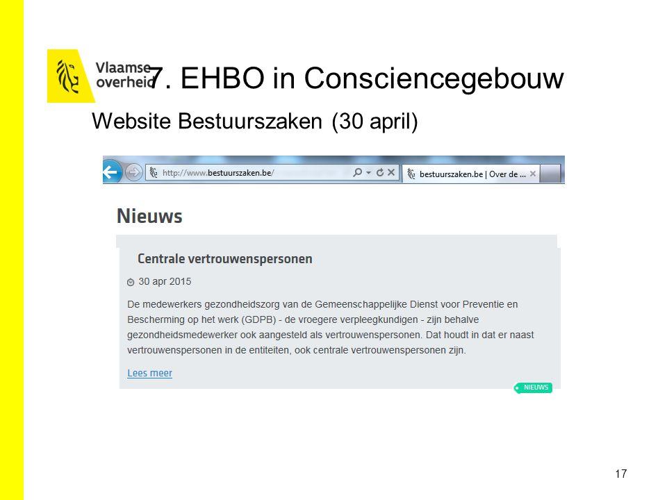 7. EHBO in Consciencegebouw 17 Website Bestuurszaken (30 april)
