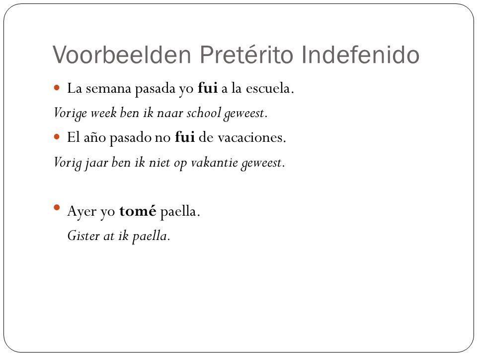 Hoe maak je de Pretérito Indefinido.