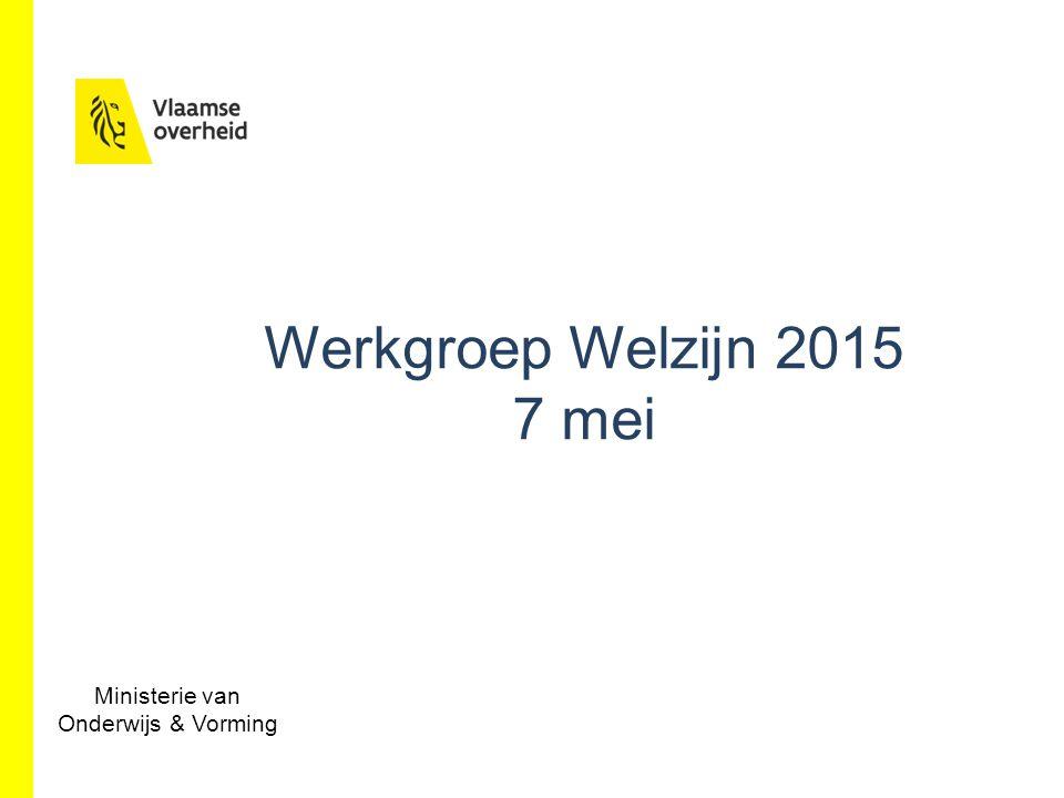 www.bestuurszaken.be Werkgroep Welzijn 2015 7 mei Ministerie van Onderwijs & Vorming