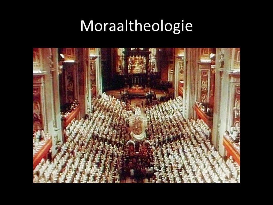 Moraaltheologie = theologie Band tussen moraaltheologie, dogmatiek, liturgie, exegese, filosofie, sociale wetenschappen,…