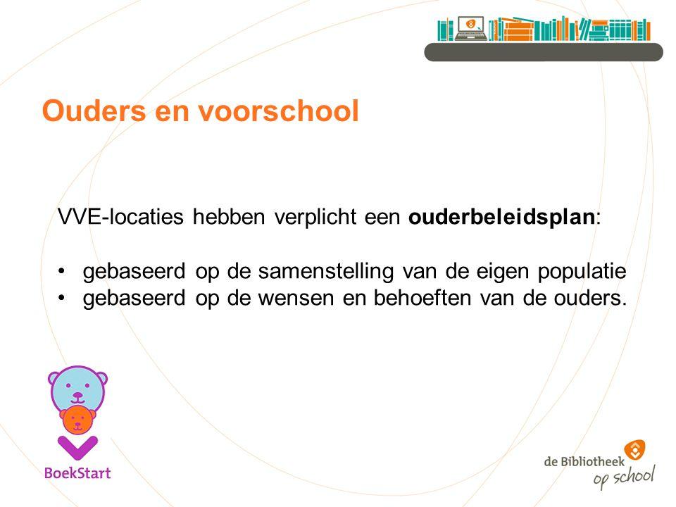 Ouders en voorschool VVE-locaties hebben verplicht een ouderbeleidsplan: gebaseerd op de samenstelling van de eigen populatie gebaseerd op de wensen e