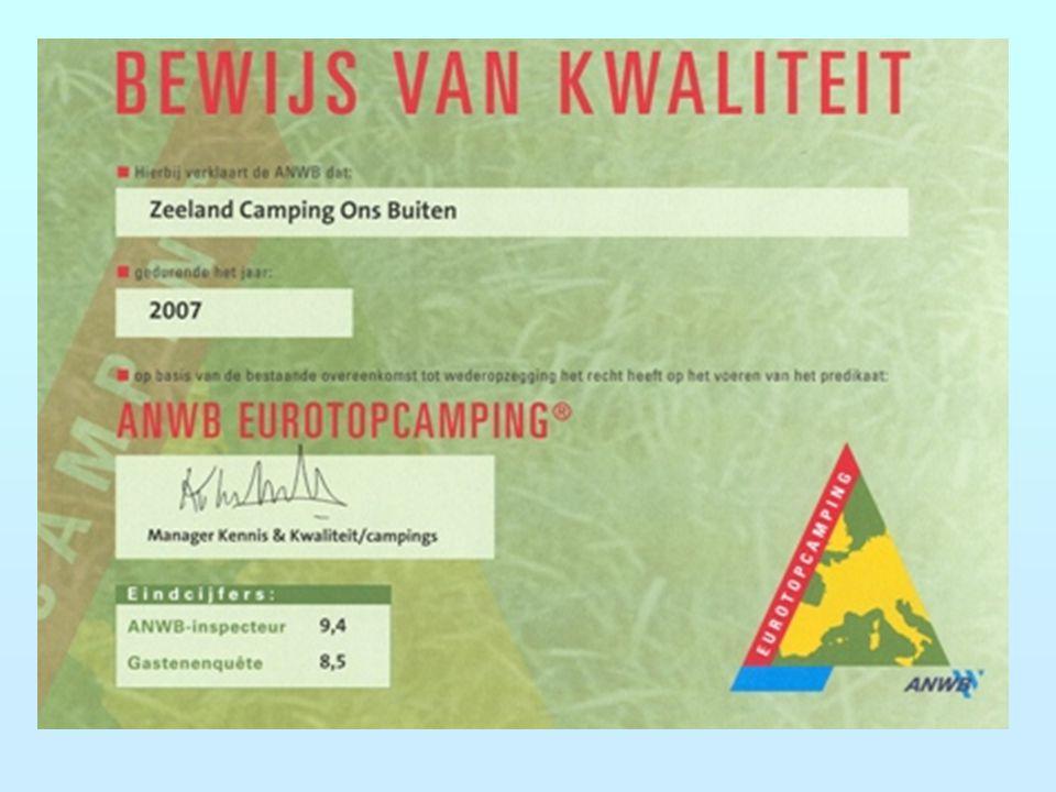Kwaliteitseis Eurotop Campings Minimaal een 8,5 op alle onderdelen