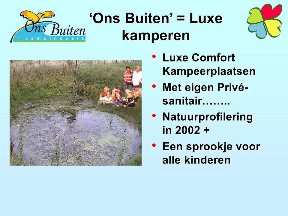 Luxe Comfort Kampeerplaatsen Luxe Comfort Kampeerplaatsen Met eigen Privé- sanitair……..