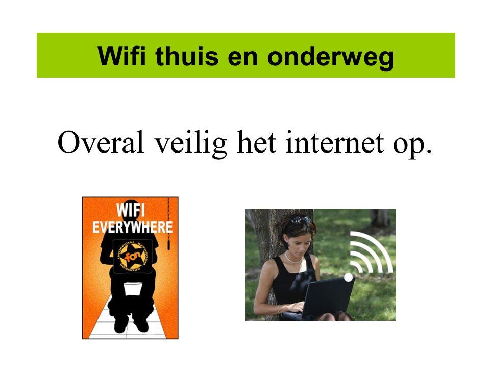 Wifi thuis en onderweg Overal veilig het internet op.