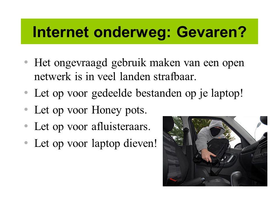 Internet onderweg: Gevaren.