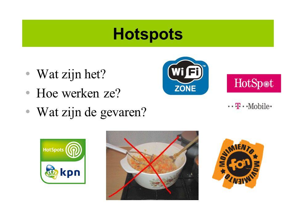 Hotspots Wat zijn het? Hoe werken ze? Wat zijn de gevaren?