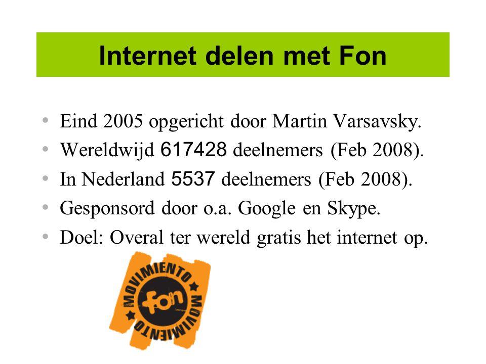 Internet delen met Fon Eind 2005 opgericht door Martin Varsavsky.