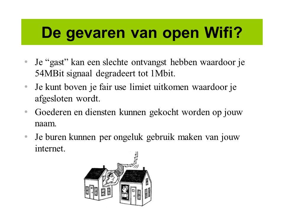 De gevaren van open Wifi.